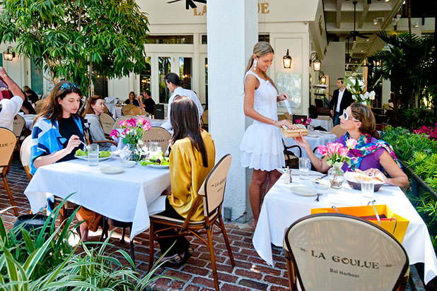 La Goulue French Bistro. Vacation in Bal Harbour, Chic Neighborhood in Miami
